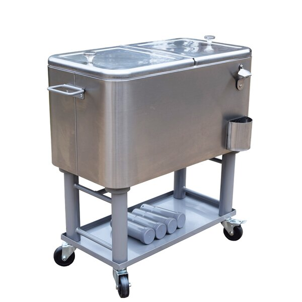 60 Qt. Stainless Steel Party Cooler by Oakland Living