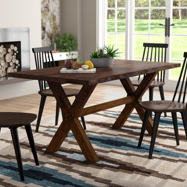 Amazing Tiggs Solid Wood Dining Table By Millwood Pines 2019 Online