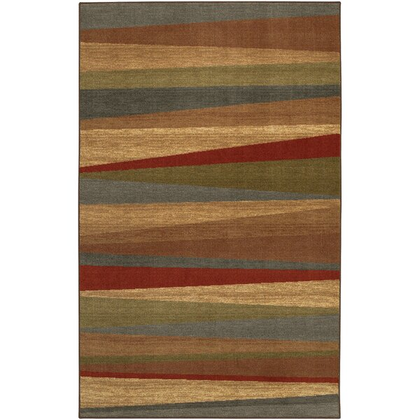 Claireville Brown / Red Area Rug by Latitude Run