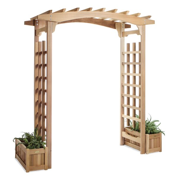 Pagoda Planter Wood Arbor by All Things Cedar