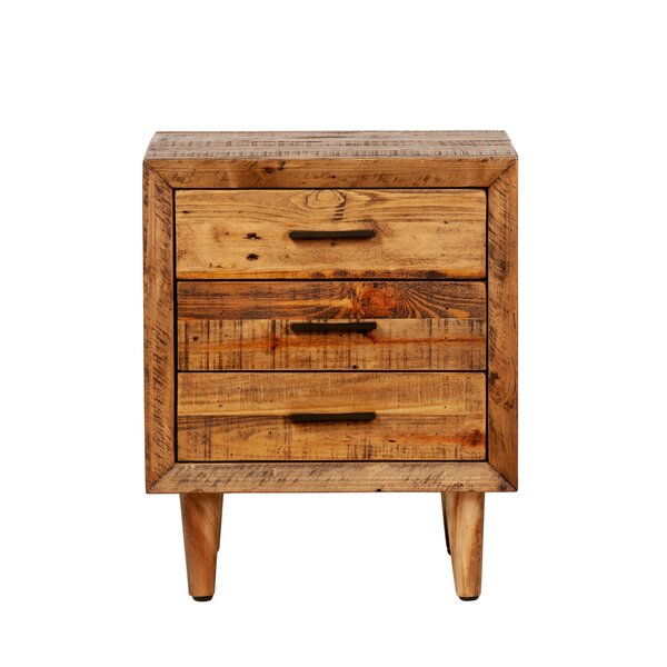 Sherrard 3 Drawer Nightstand by Union Rustic