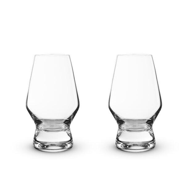 Raye Lead Free 8 oz. Crystal Every Day Glass (Set of 2) by Viski