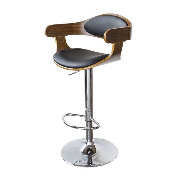 Vanya Adjustable Height Swivel Bar Stool by Wrought Studio
