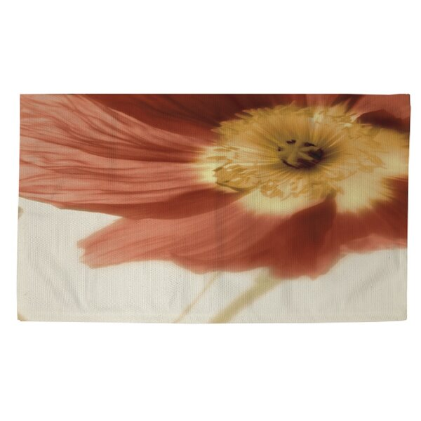 Mystic Poppy 1 Cream/Orange Area Rug by Manual Woodworkers & Weavers