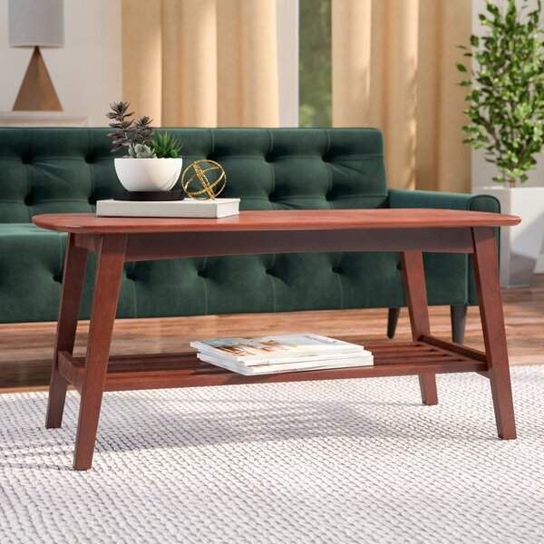 Conway Coffee Table With Magazine Rack By George Oliver