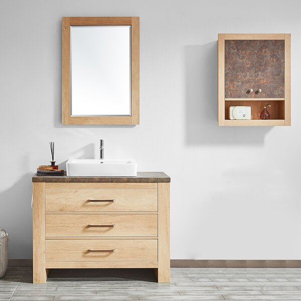 Kemp 42 Single Bathroom Vanity Set with Mirror by Union Rustic
