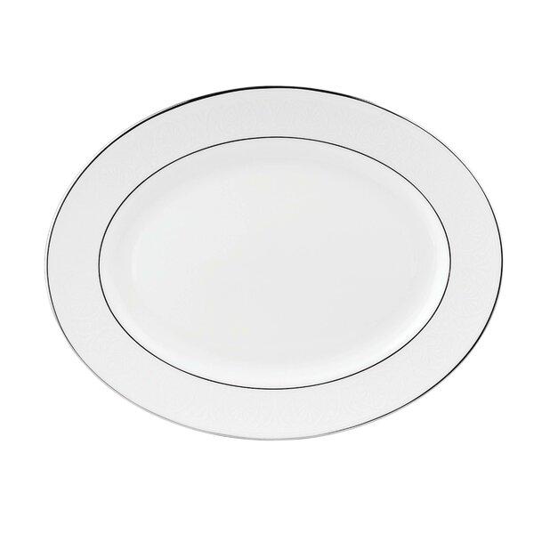 Hannah Platinum Oval Platter by Lenox