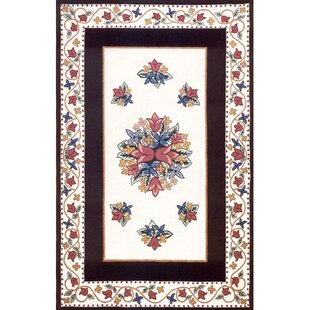 Affordable Bucks County Tulip Ivory/Black Area Rug By American Home Rug Co.