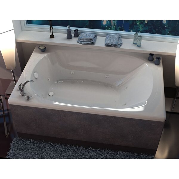 St. Lucia 77.87 x 47.5 Rectangular Air & Whirlpool Jetted Bathtub with Center Drain by Spa Escapes