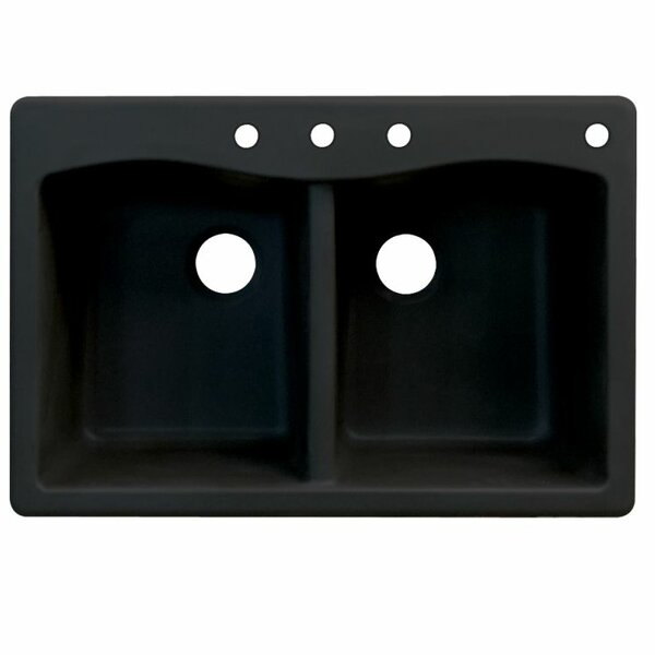 Aversa 33 L x 22 W Double Basin Drop-in Kitchen Sink by Transolid