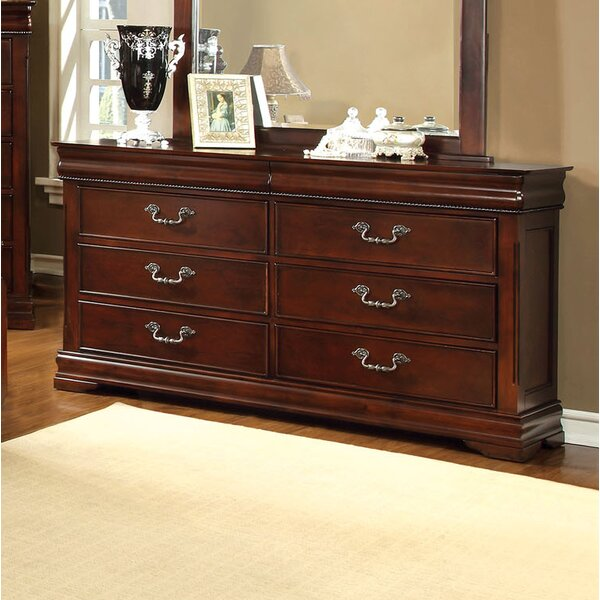 Cherisse 6 Drawer Double Dresser by Hokku Designs