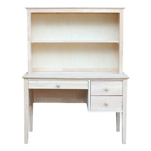 Newville Solid Wood Desk Hutch by August Grove 2019 Sale