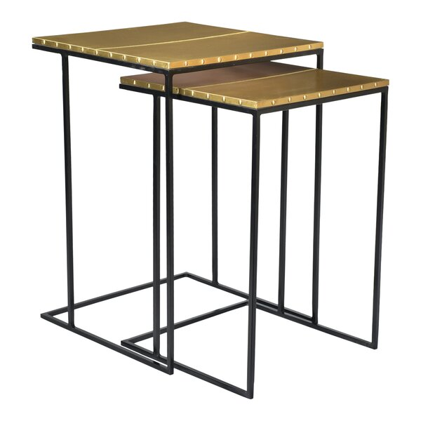 Barnesville 2 Piece Nesting Table Set by Everly Quinn Everly Quinn