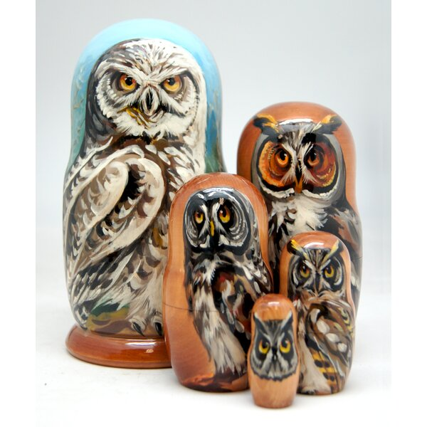 Vanderpool Owl's Wisdom 5 Piece Nested Doll Set by Millwood Pines