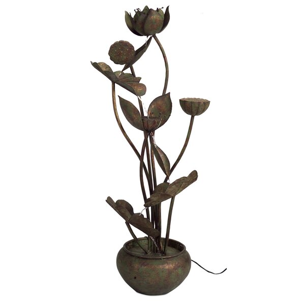 Metal Leaf Fountain by Melrose International