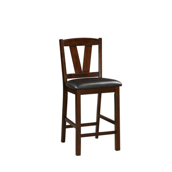 Hofer Rubber Wood Armless 24 Bar Stool (Set of 2) by Charlton Home