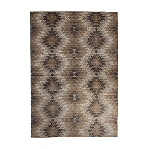 Foulds Machine Woven Synthetic Brown/Ivory Indoor Area Rug by Brayden Studio