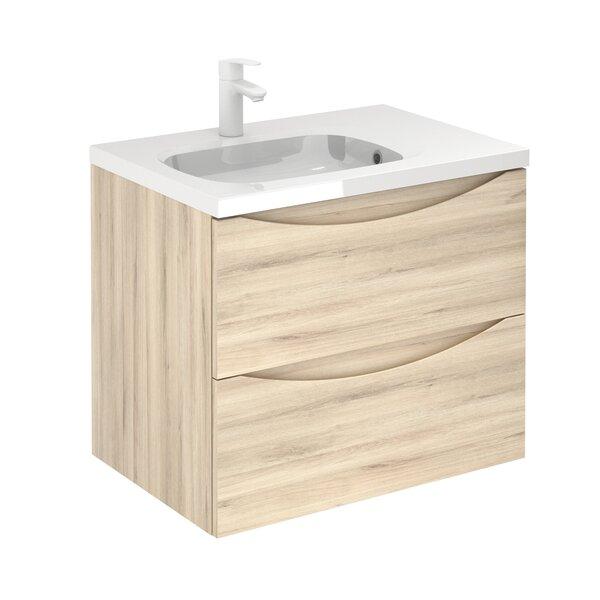 Brier 2 Drawer 28 Wall-Mounted Single Bathroom Vanity Set