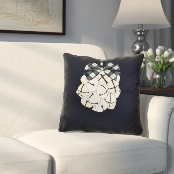 Mclendon Holiday Jingle Bells Outdoor Throw Pillow by Three Posts