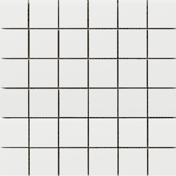 Choice 2 x 2 Porcelain Mosaic Tile in Matte White by Emser Tile