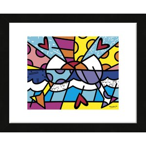 'Cheers' by Romero Britto Framed Graphic Art by McGaw Graphics