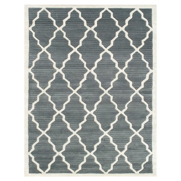 Igarka Hand-Tufted Grey Area Rug by Meridian Rugmakers