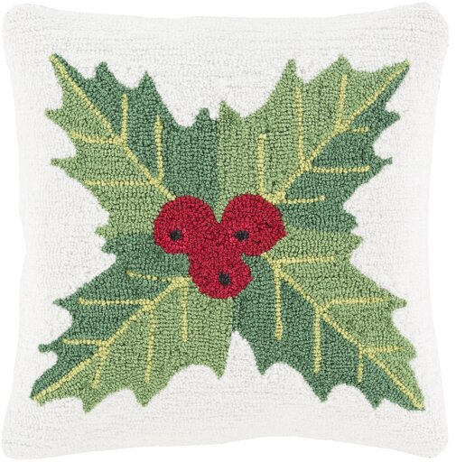 Christmas Mistletoe Throw Pillow by Three Posts