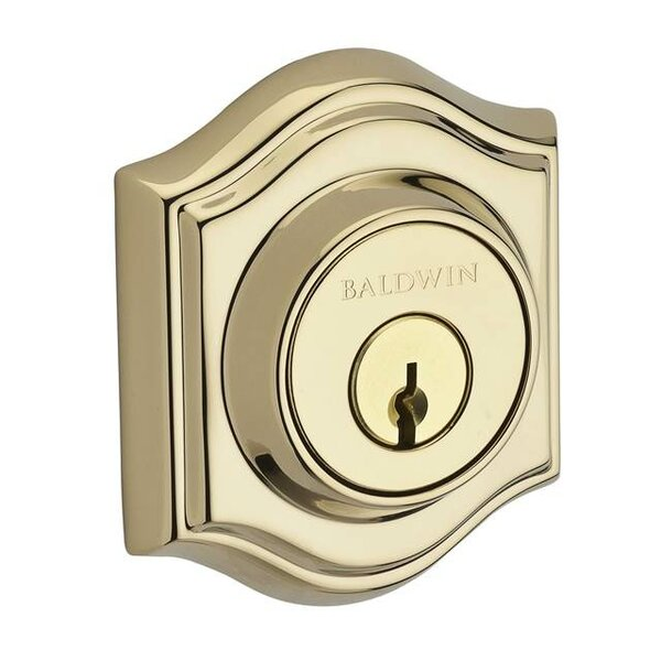 Traditional Arch Double Cylinder Deadbolt with Smartkey by Baldwin