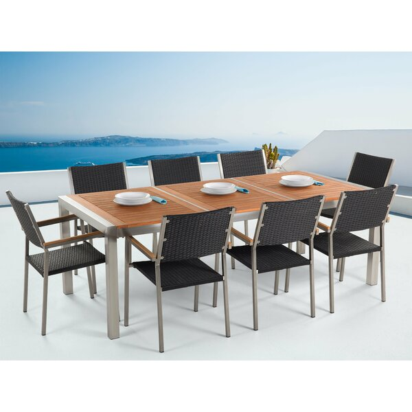 Zuzanna Patio 9 Piece Dining Set by Brayden Studio