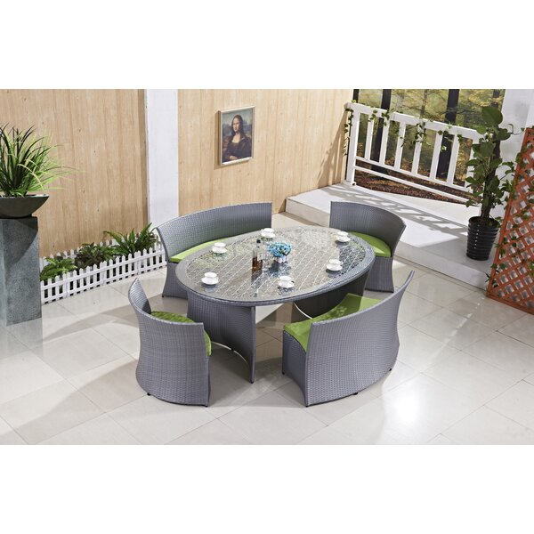 Steiner 5 Piece Dining Set with Cushion by Brayden Studio