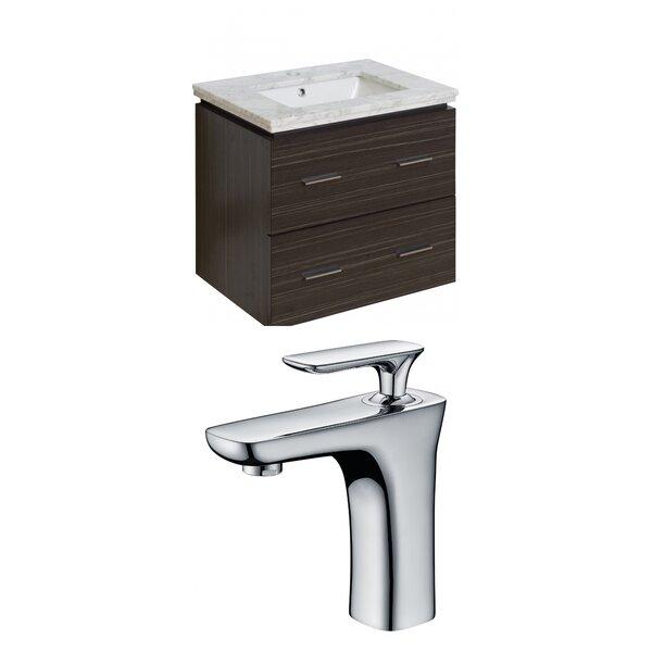Kyra Modern 24 Multi-Layer Stain Single Bathroom Vanity Set