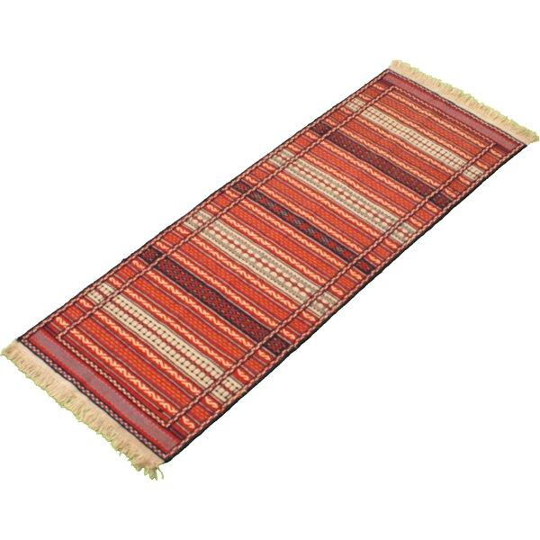 Frese Handmade Kilim Wool Red/Beige Rug