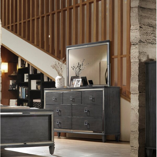 Ezio 7 Drawer Dresser with Mirror by House of Hampton