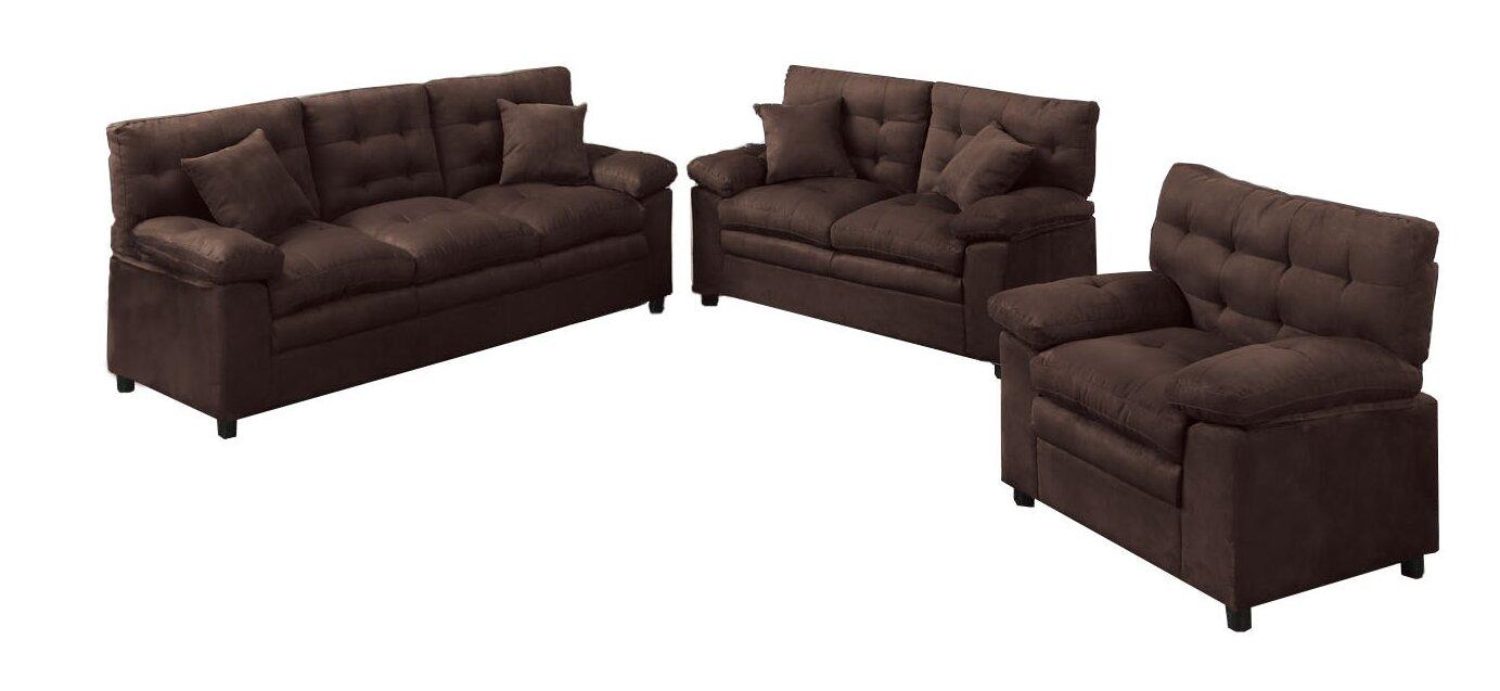 Red Barrel Studio Kingston 3 Piece Living Room Set & Reviews | Wayfair