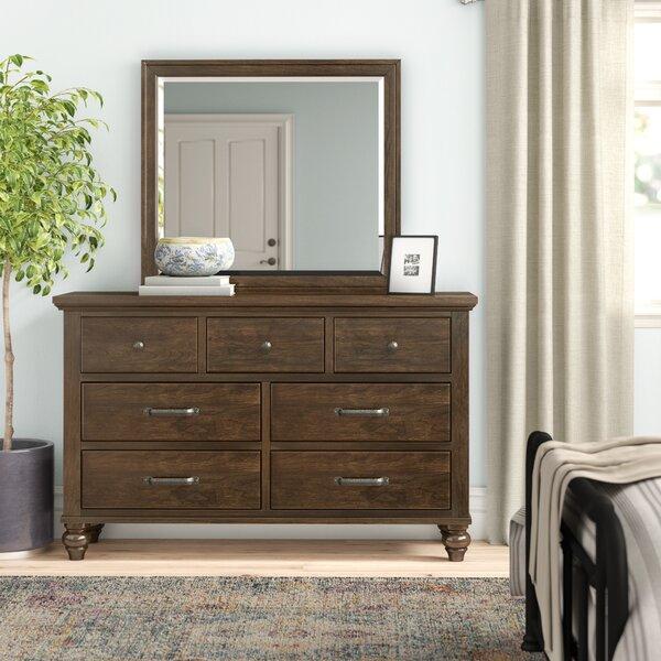 Judith Gap 7 Drawer Dresser with Mirror by Three Posts