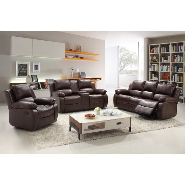 Kornegay Reclining 3 Piece Living Room Set by Red Barrel Studio