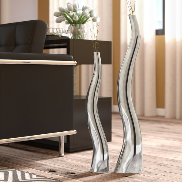 Wiggly Tall Floor Vase (Set of 2) by Wade Logan