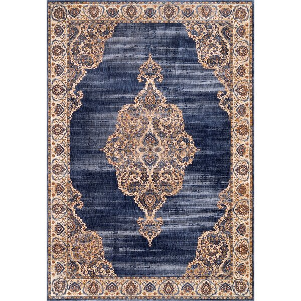 Perdue Navy Area Rug by Bungalow Rose
