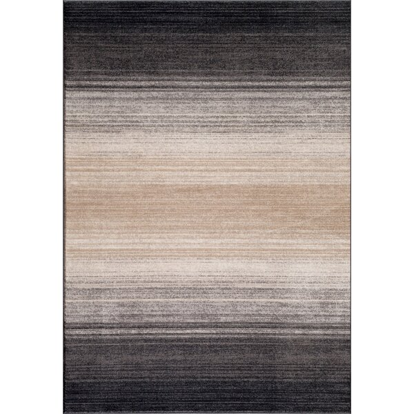 Quicksilver Gray/Black Area Rug by World Rug Gallery