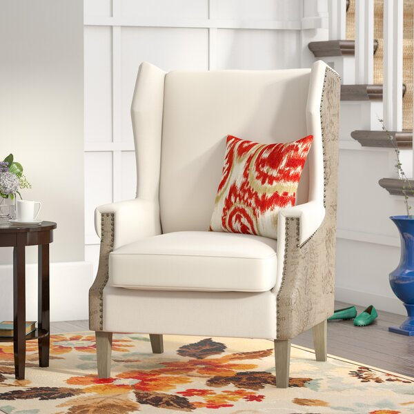 Hunter Wingback Chair by Three Posts