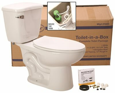 Waterfront™ Watersense® 1.28 GPF Round Two-Piece Toilet by Premier Faucet