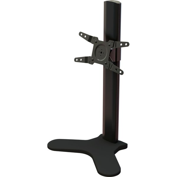Single Desktop Tilt Floor Stand Mount for 13 - 34 Screens by Crimson AV