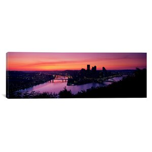 'Pittsburgh, Pennsylvania' Photographic Print on Canvas by East Urban Home