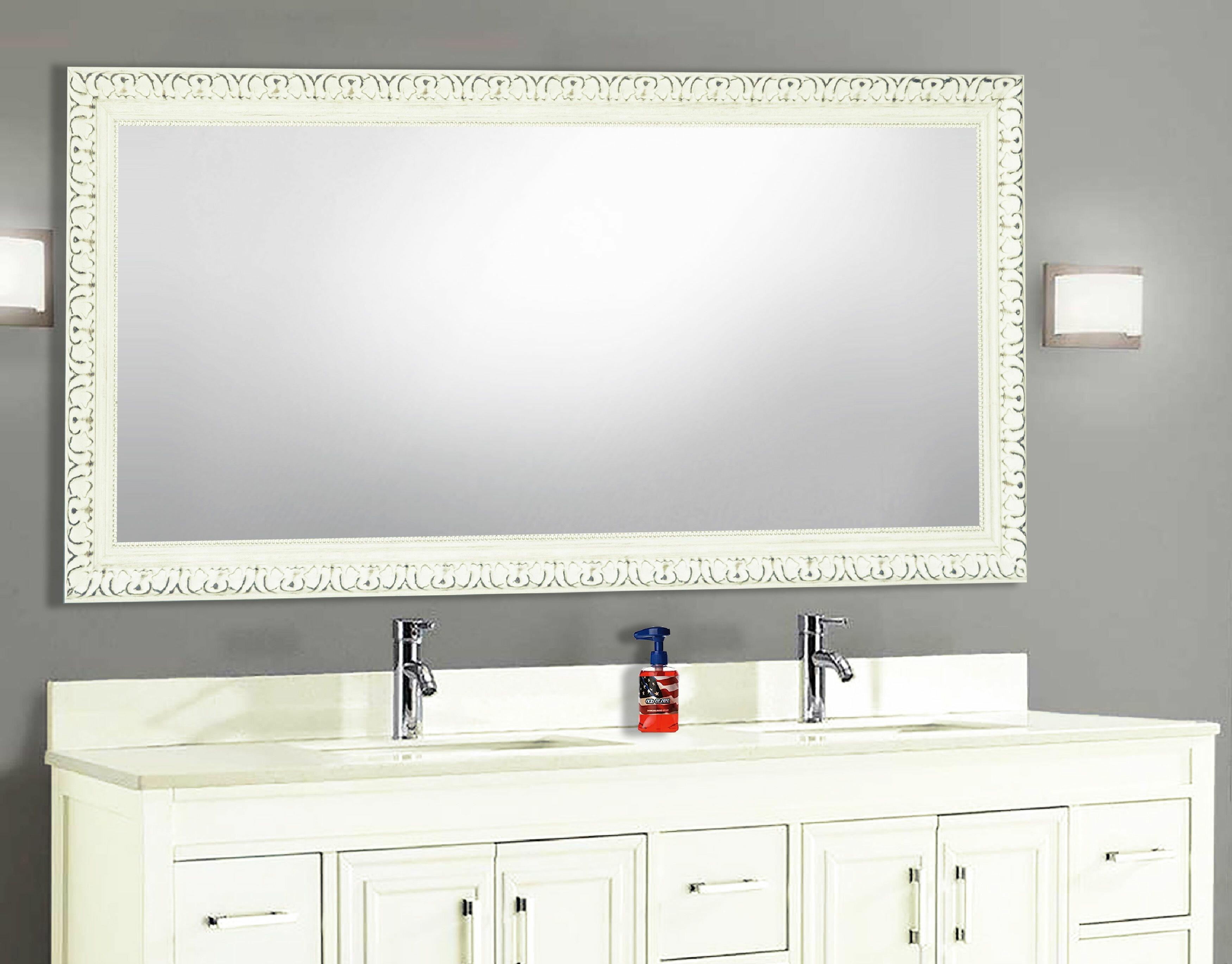 One Allium Way Arbonne Farmhouse Country Venetian Distressed Bathroom Vanity Mirror Wayfair