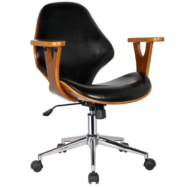 Felson Mid-Back Leather Desk Chair by Langley Street