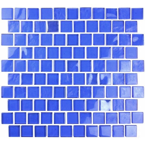 Landscape 1 x 1 Glass Mosaic Tile in Blue by Abolos