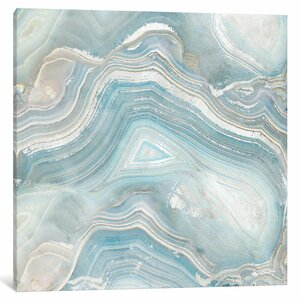 Agate in Blue I Graphic Art on Wrapped Canvas by Mercer41