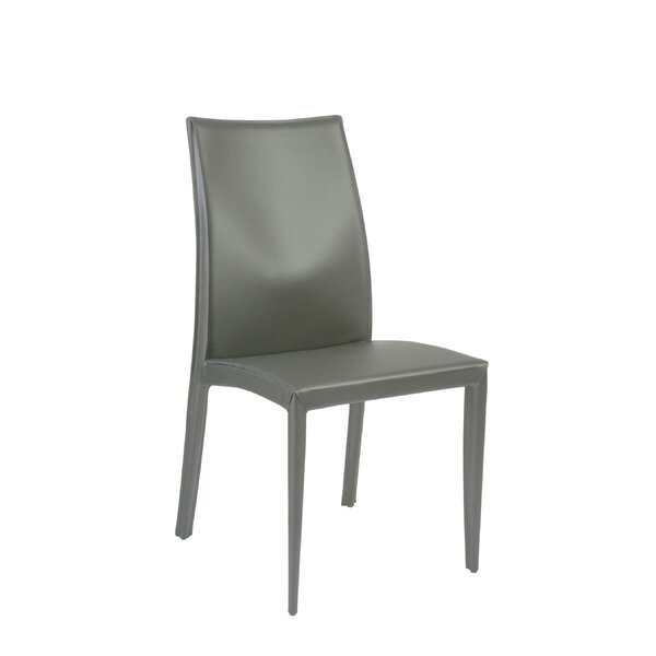 Bankston Genuine Leather Upholstered Dining Chair (Set of 2) by Orren Ellis