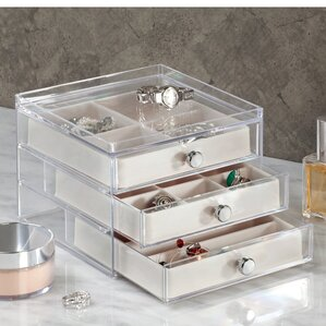 3 Drawer Slim Jewelry Box by InterDesign