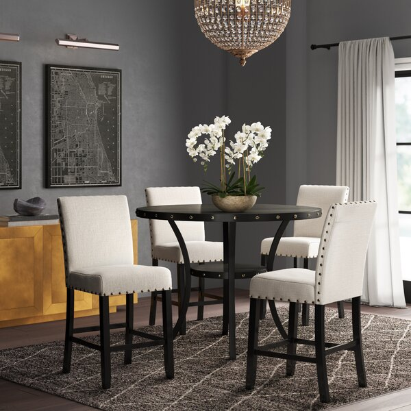 Haysi Espresso Wood 5 Piece Dining Set by Greyleigh